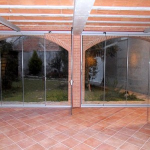 Puerta replegable visualglass