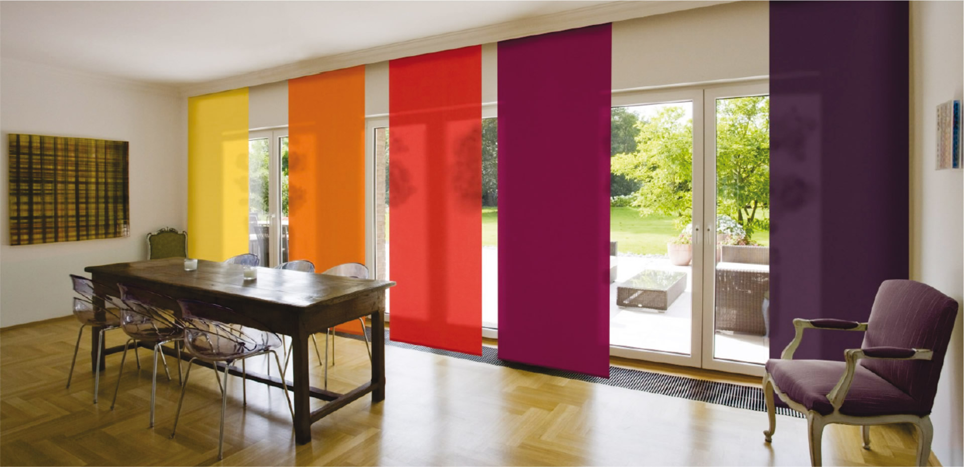 Cortinas y estores alutherm - Fotos panel japones ...